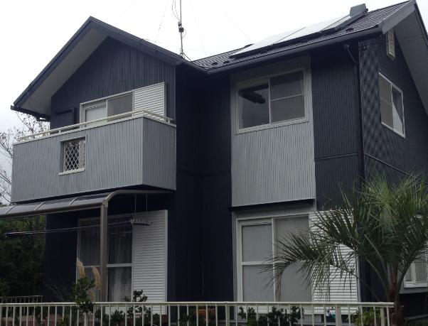 サイディングの家