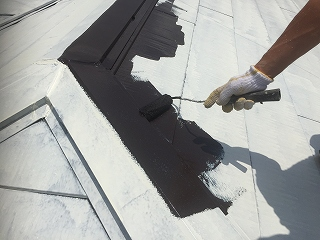 千葉県印旛郡栄町、屋根塗装 (2)