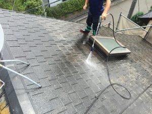 印西市、外壁塗装洗浄 (2)