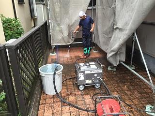 印西市、外壁塗装洗浄 (3)