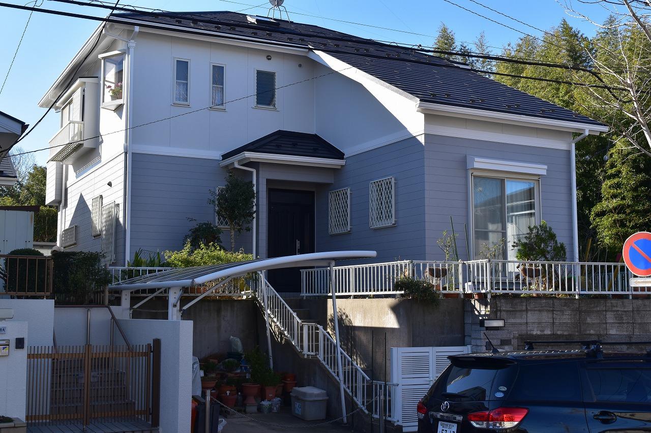千葉県印旛郡F様邸 外壁塗装・屋根カバー工法工事が完成です!