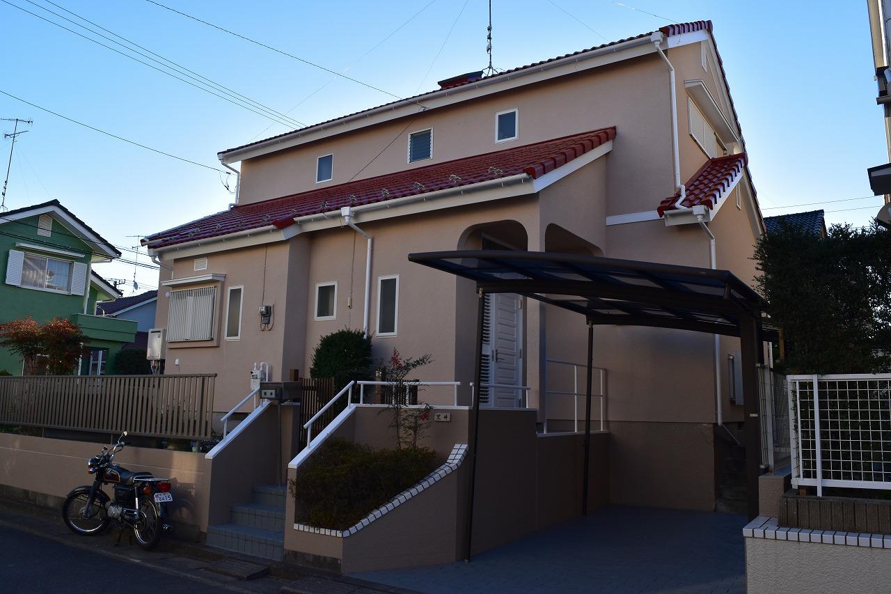 千葉県印旛郡A様邸 外壁スタッコ仕上げ・屋根塗装工事