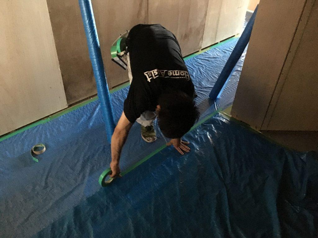 サバゲー場塗装工事 (2)