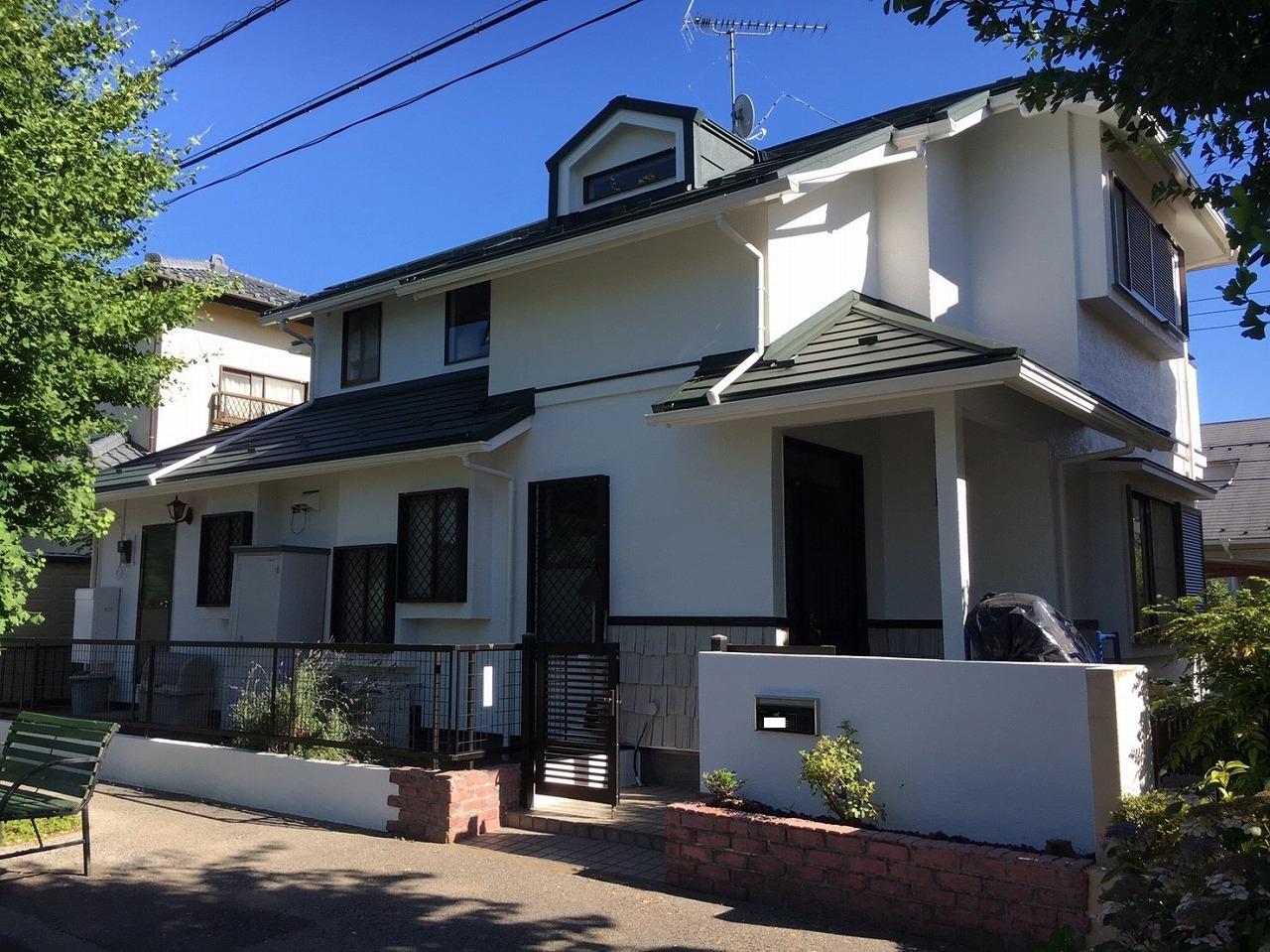 千葉県印旛郡K様邸 外壁塗装・屋根カバー工法工事が完成しました!