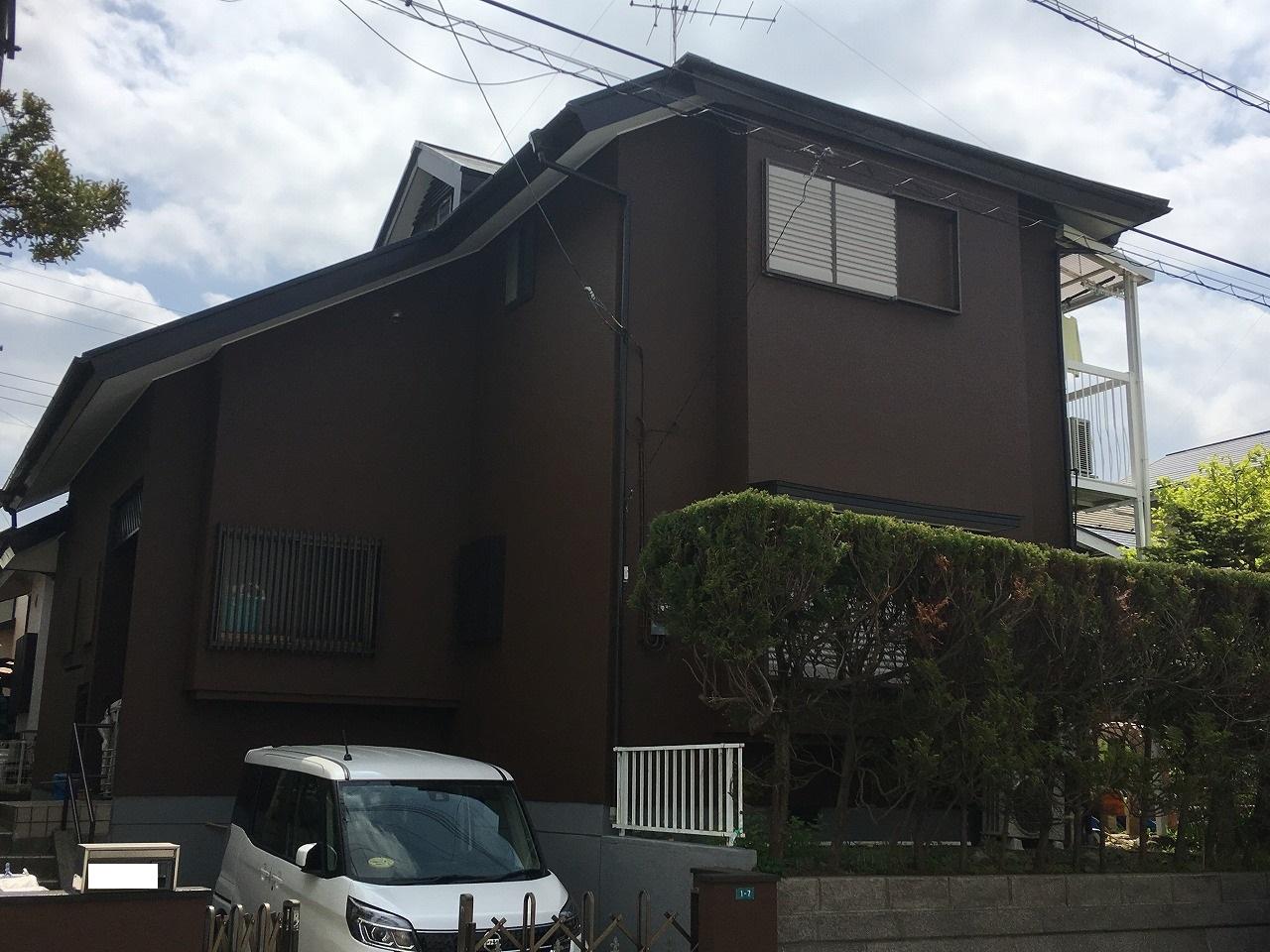 印旛郡S様邸 外壁塗装,屋根塗装工事が完了しました!
