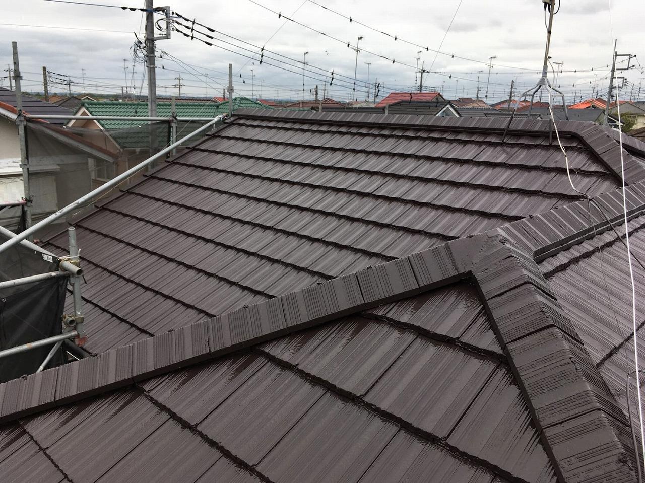 千葉県印旛郡M様邸 屋根塗装・付帯塗装工事が完成しました!